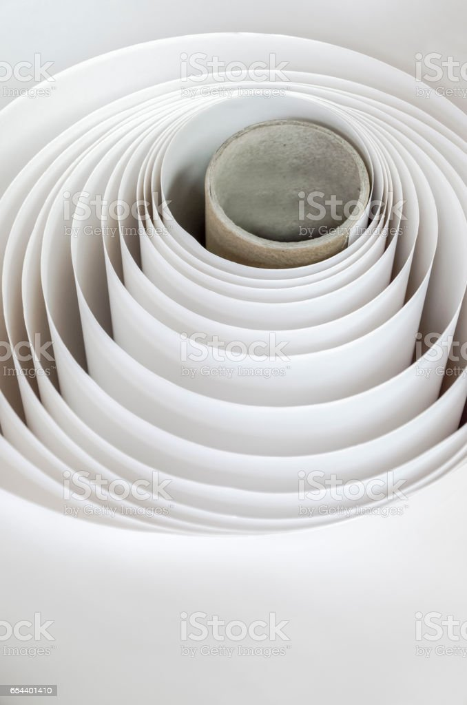 Paper Rolls for Ploter Printers stock photo