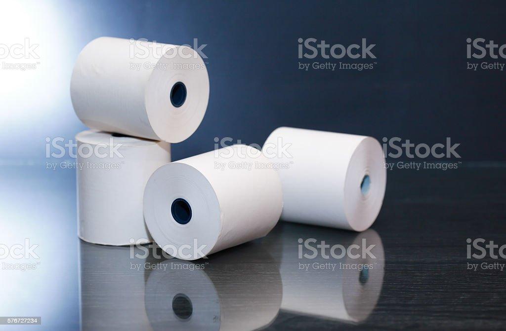 Paper Rolls On Dark stock photo