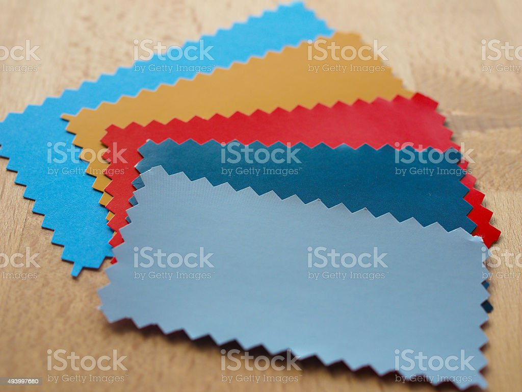 Paper sample stock photo