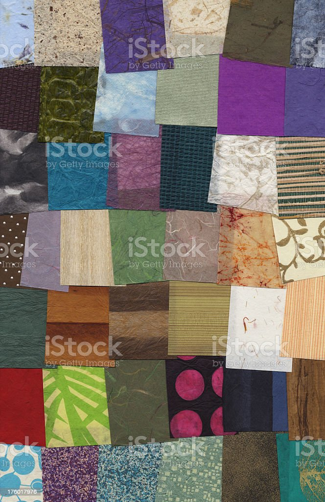 Paper Samples Background royalty-free stock photo