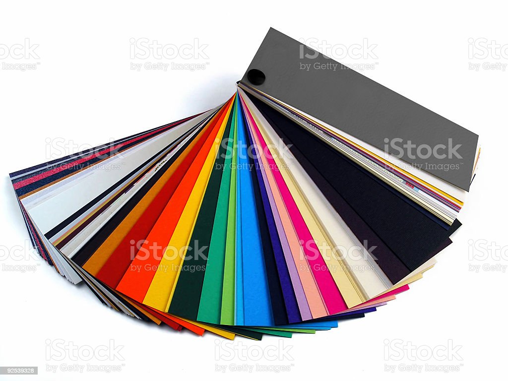 Paper samples for business cards royalty-free stock photo