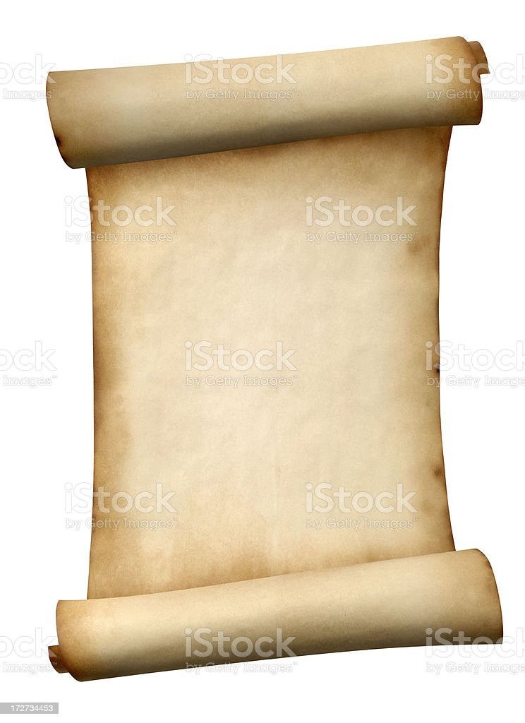 Paper Scroll royalty-free stock photo