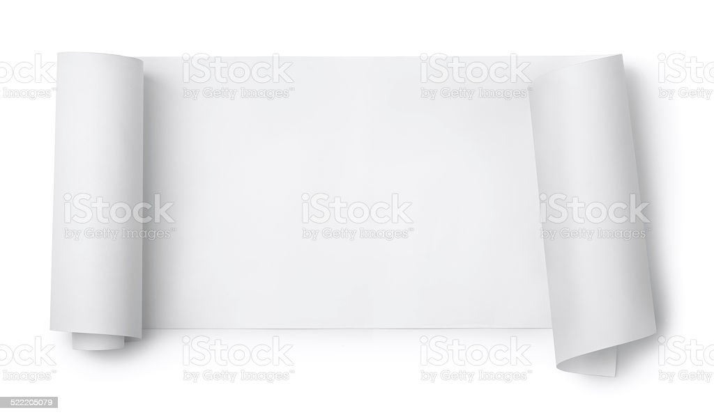 Paper scroll stock photo
