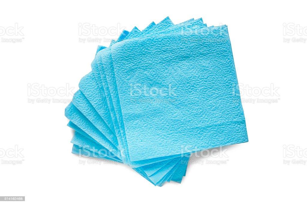 Paper serviettes stock photo