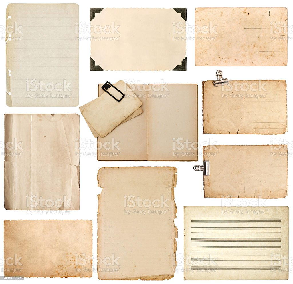 paper sheet, bookpage, cardboard, photo frame with corner stock photo