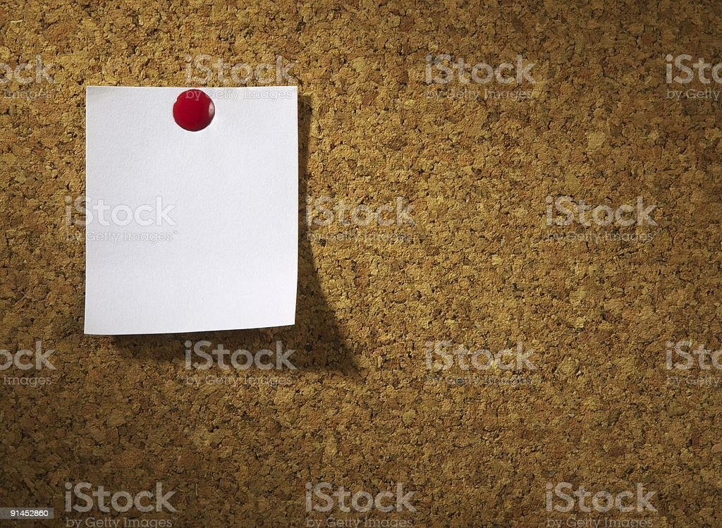 Paper sheet on a board royalty-free stock photo