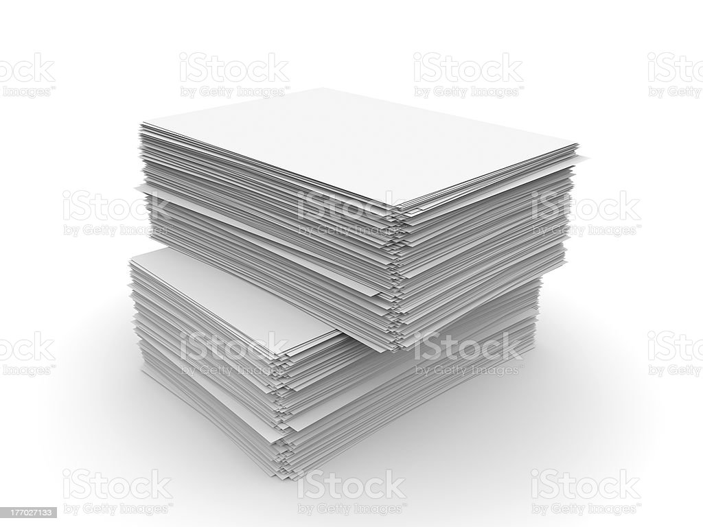Paper sheets stock photo