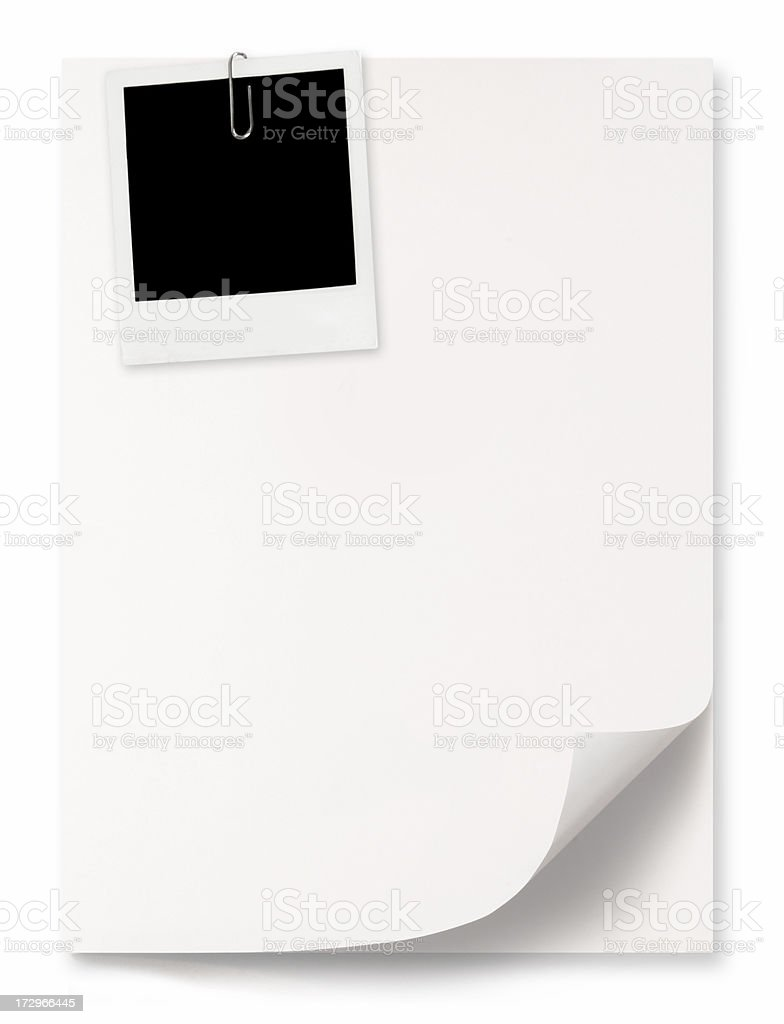 Paper sheets with picture stock photo