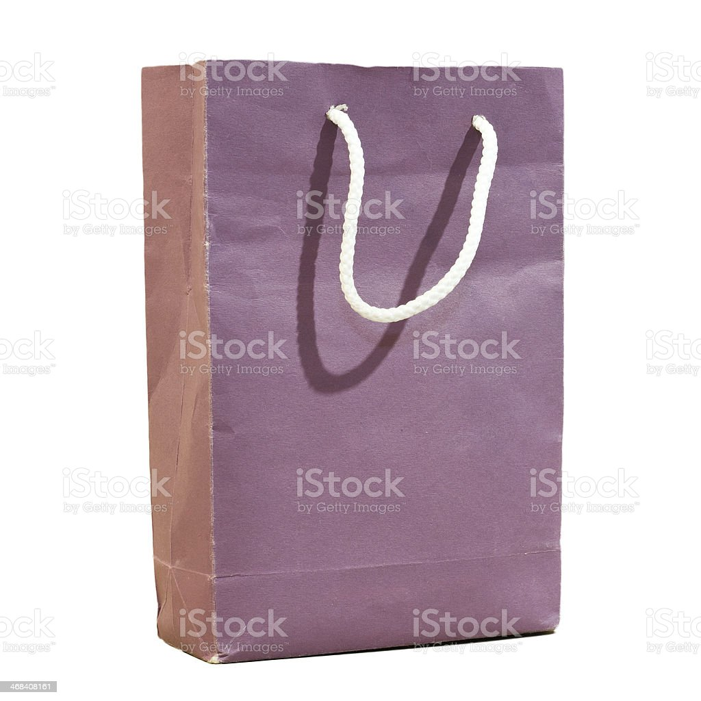 Paper shopping bag isolated royalty-free stock photo