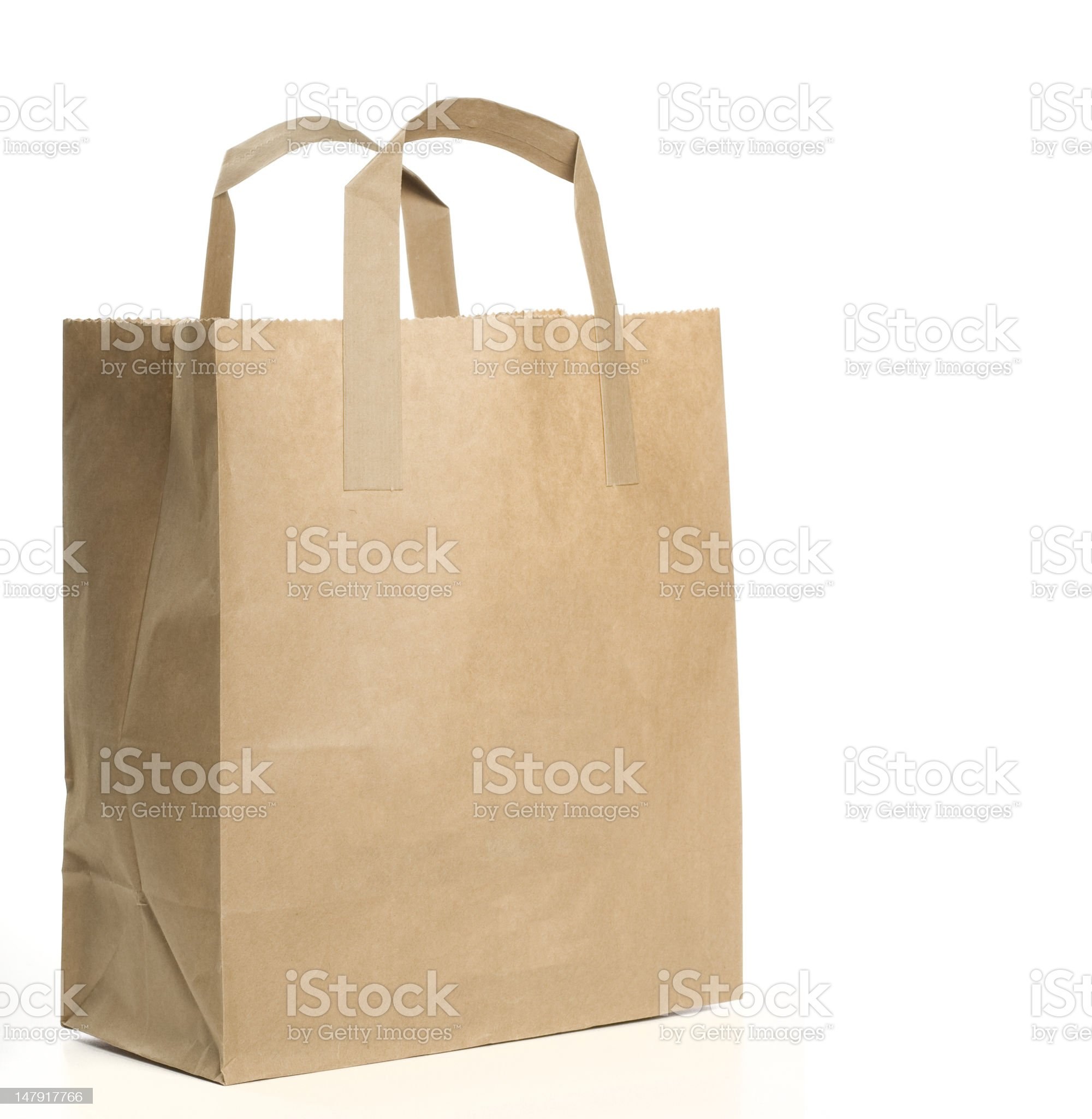 Paper Shopping Bag on white background royalty-free stock photo