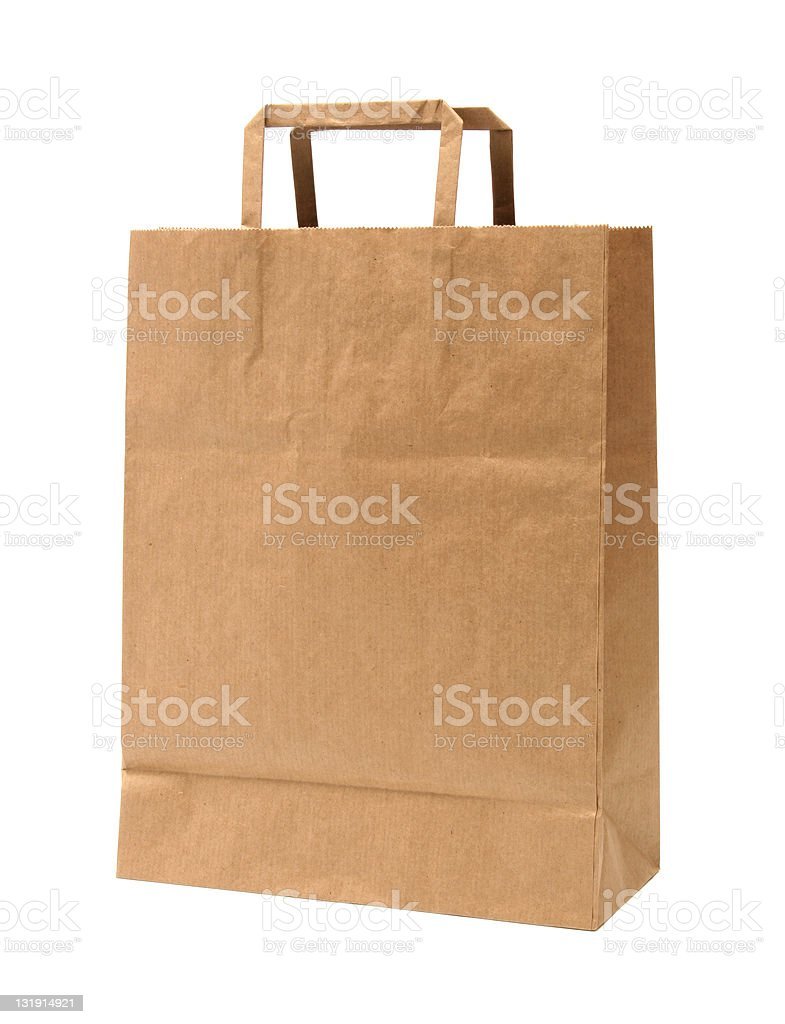 Paper shopping bag - recycled royalty-free stock photo