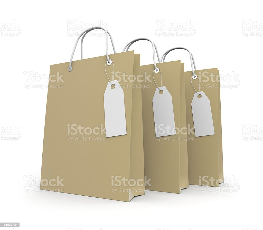 Paper Shopping bag with label royalty-free stock vector art