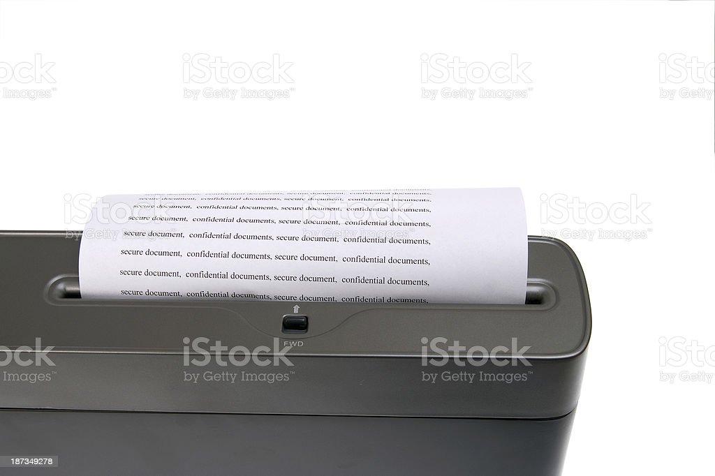 paper shredder royalty-free stock photo