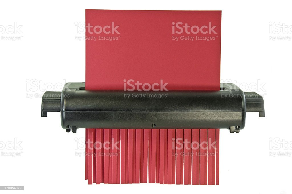 Paper Shredder With Clipping Path stock photo