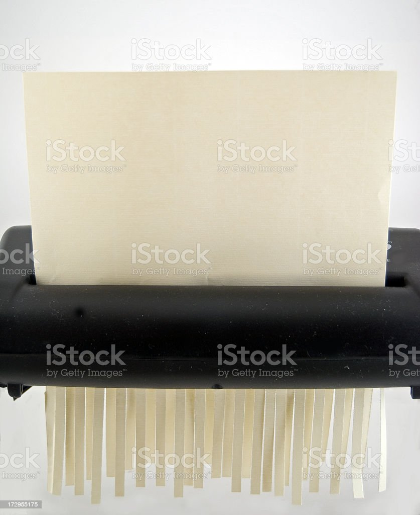 Paper Shredder With Copy royalty-free stock photo