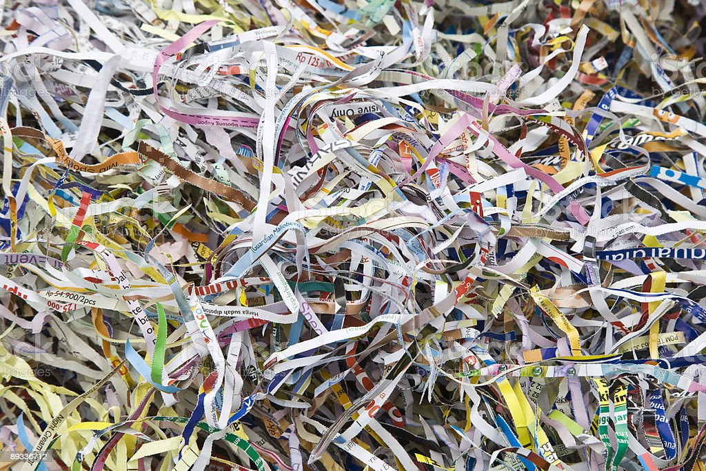 Paper shreds royalty-free stock photo