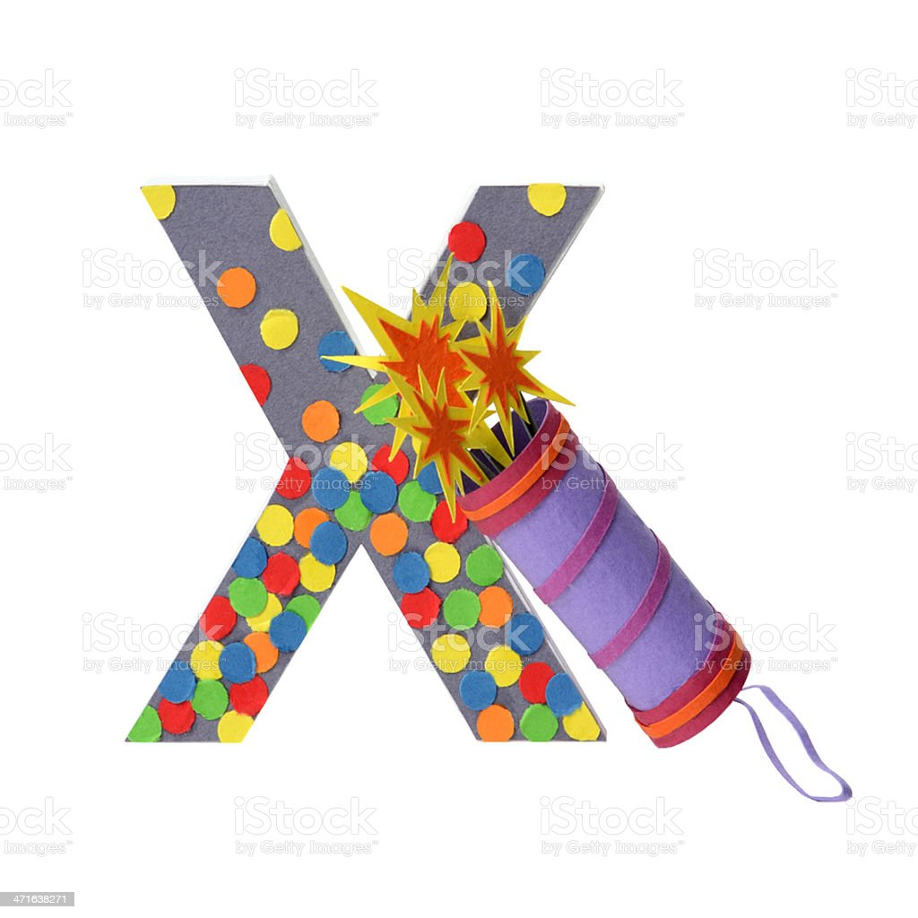 Paper slapstick and H letter royalty-free stock photo