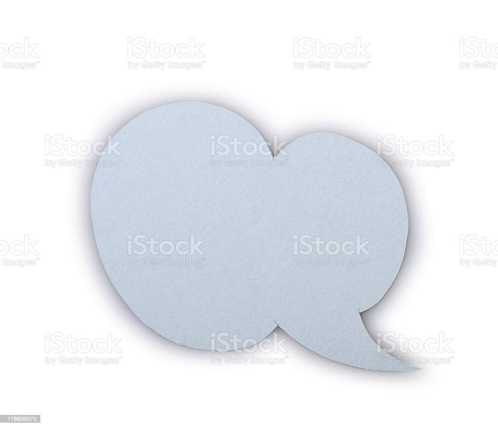 paper speech bubble royalty-free stock photo