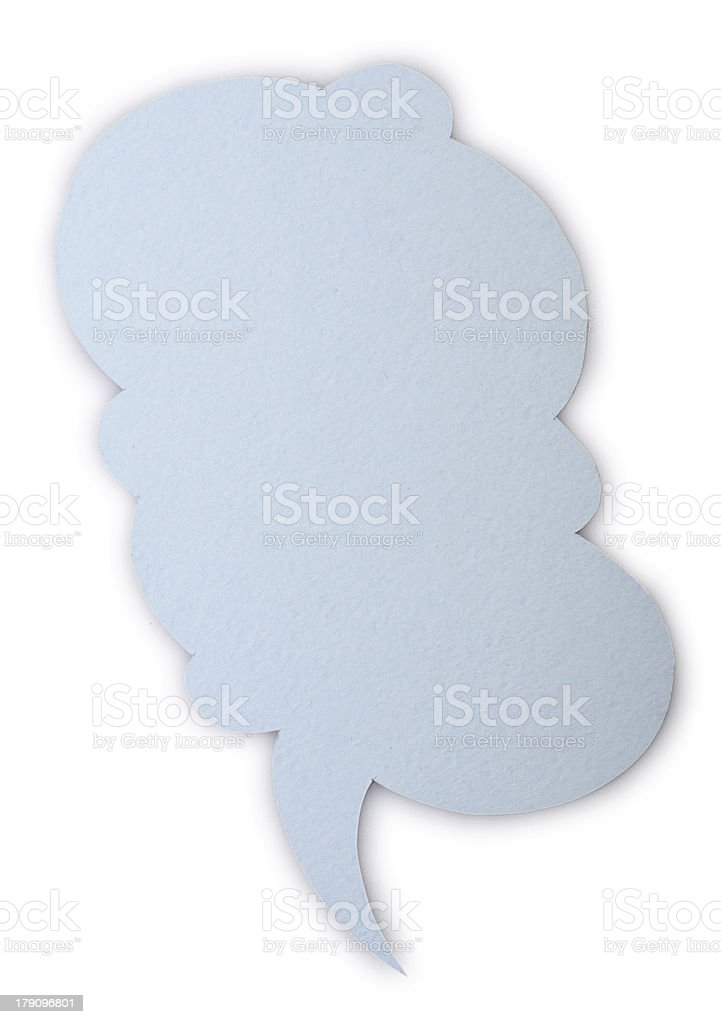 paper speech bubble royalty-free stock photo