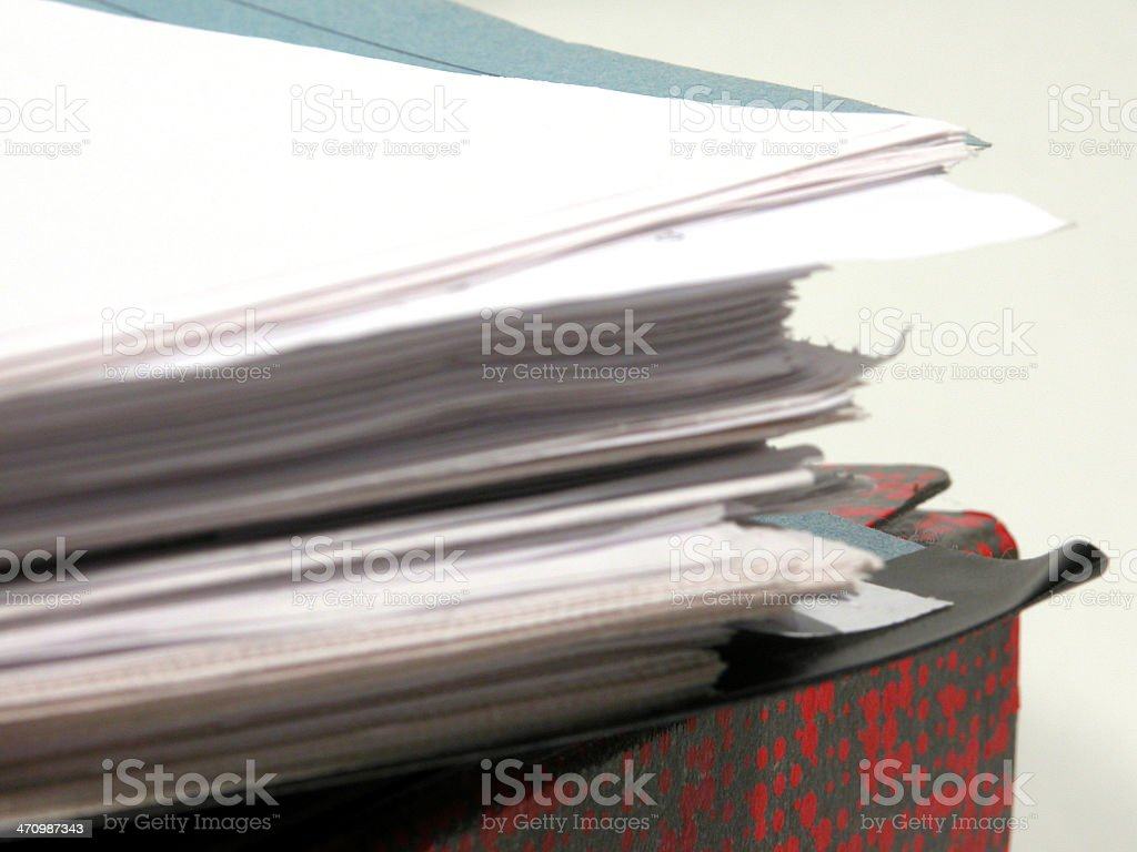 Paper stack - 04 (detail) royalty-free stock photo