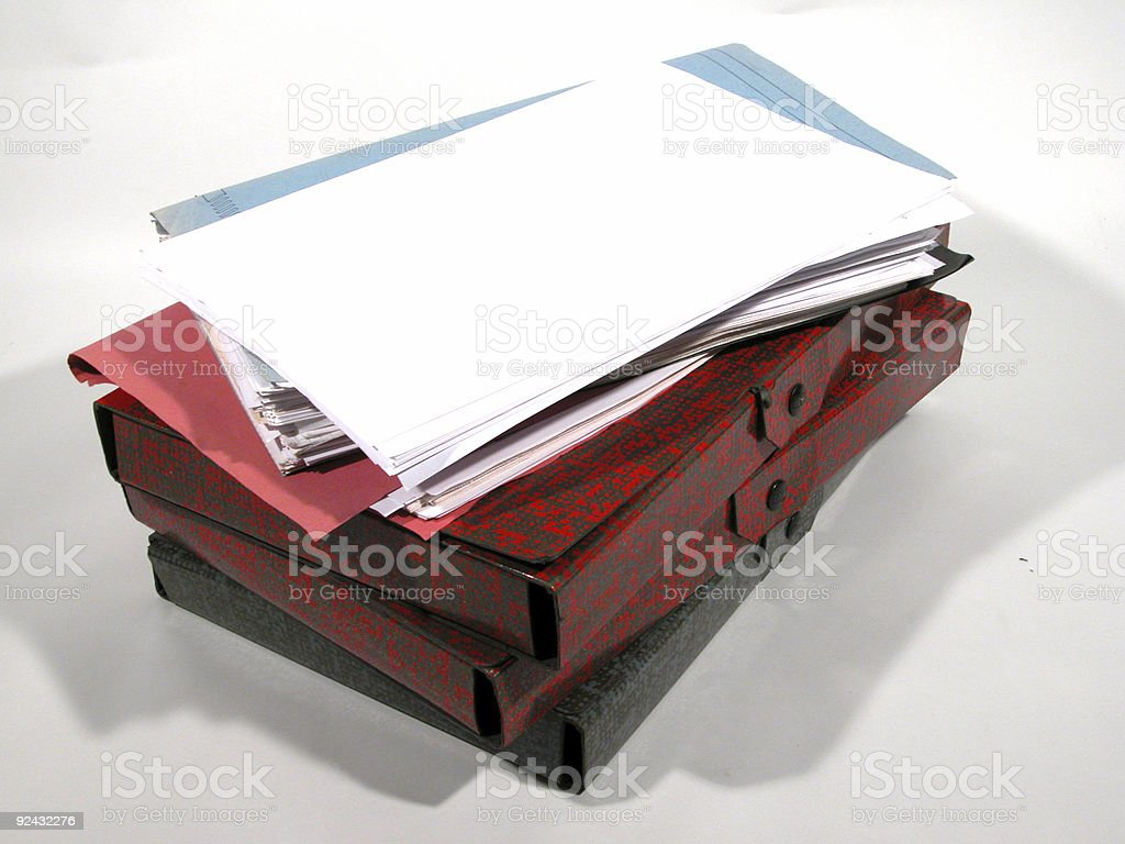 Paper stack - 08 royalty-free stock photo