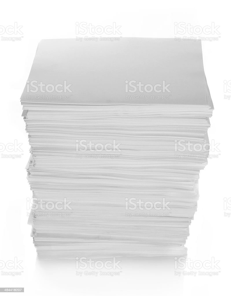 Paper Stack with path royalty-free stock photo