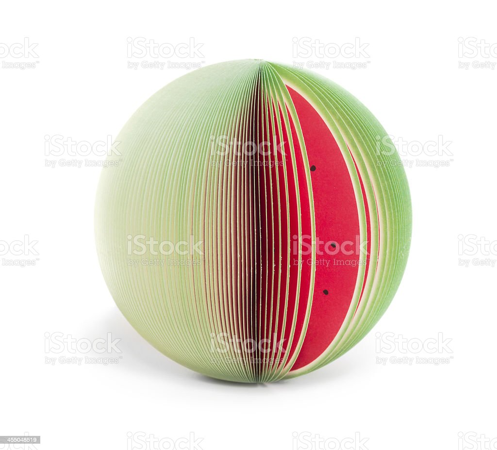 paper stick note watermelon isolated stock photo