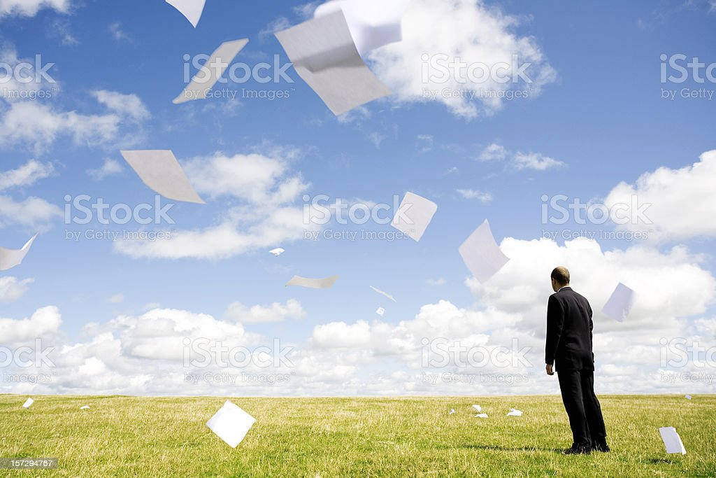 Paper storm royalty-free stock photo
