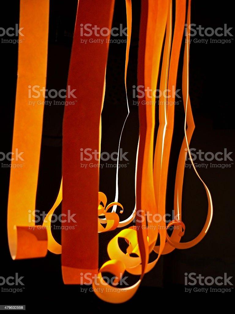 Paper strips of a Lightner. stock photo