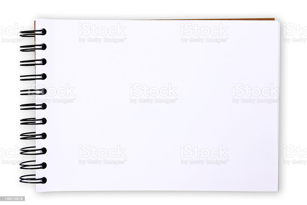 Paper table on white background stock photo