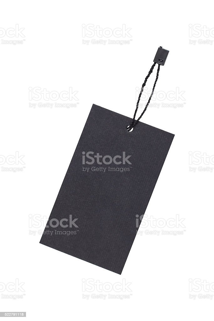 Paper tag isolated on white stock photo