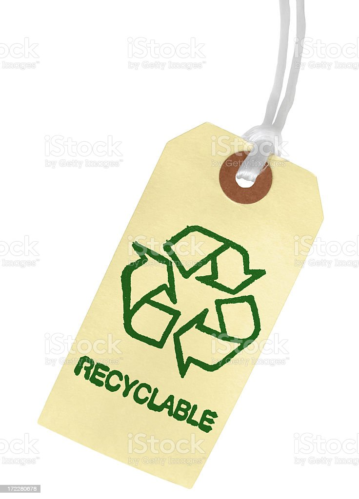 RECYCLABLE Paper Tag royalty-free stock photo