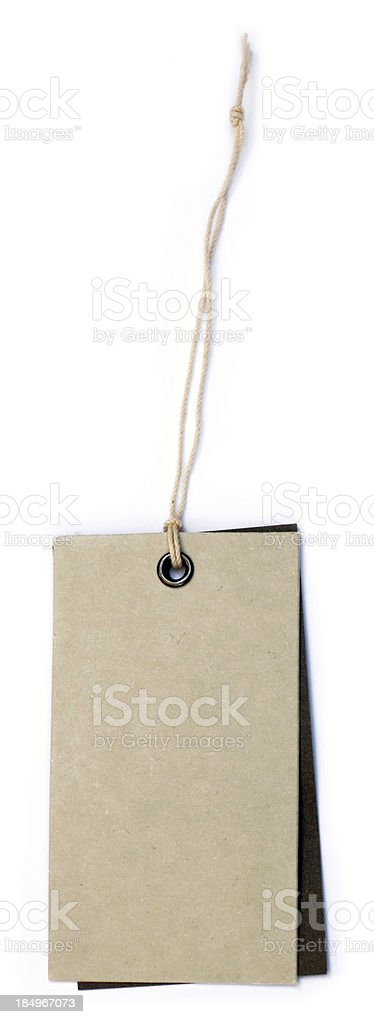 Paper tag stock photo
