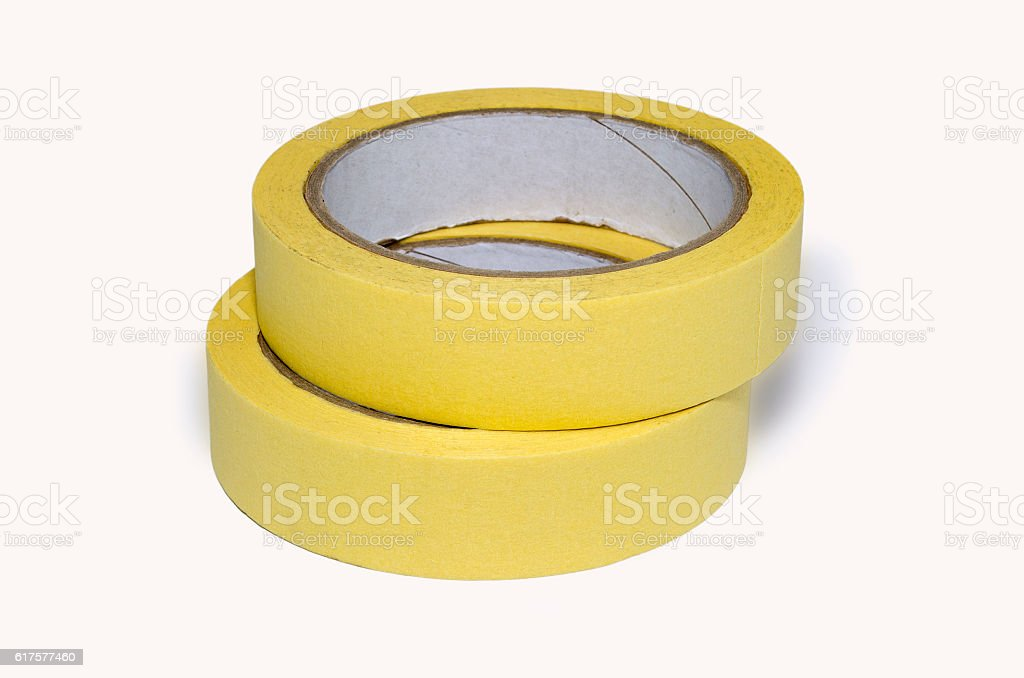 Paper tape white isolated royalty-free stock photo