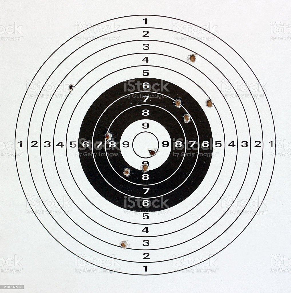 Paper target. stock photo