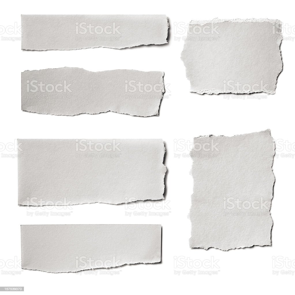 Paper Tears Collection stock photo