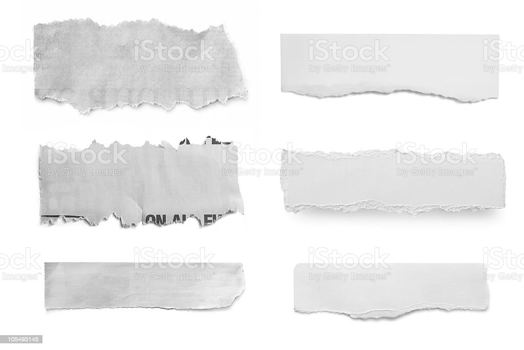 Paper Tears stock photo