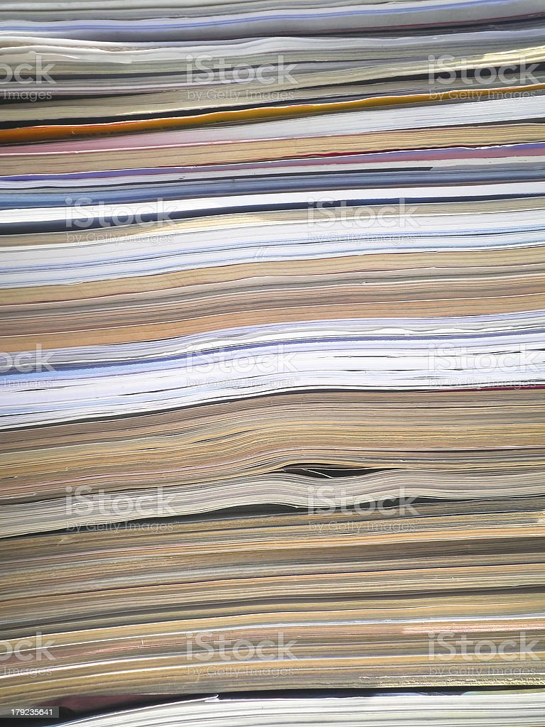 Paper textures. stack of magazines royalty-free stock photo