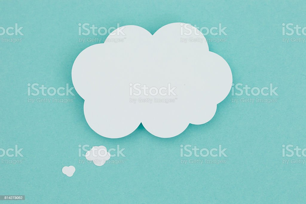 Paper thought bubble. stock photo