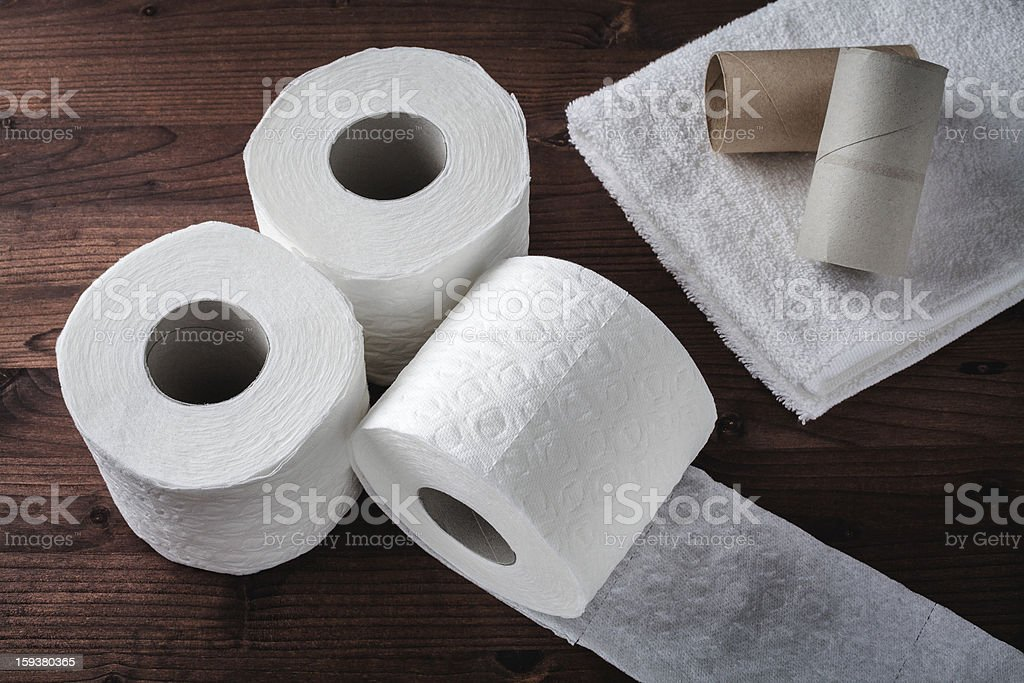paper toilet rolls royalty-free stock photo