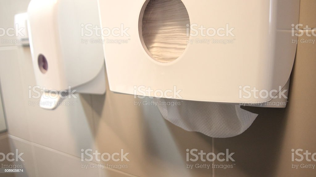 Paper towel dispenser stock photo