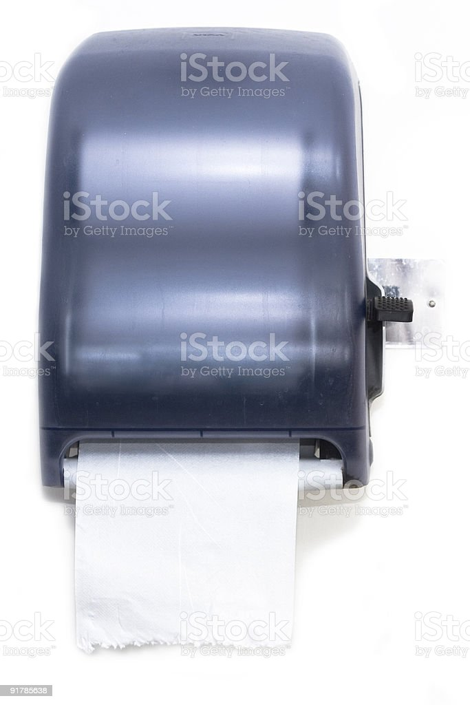 Paper towel dispenser stock photo