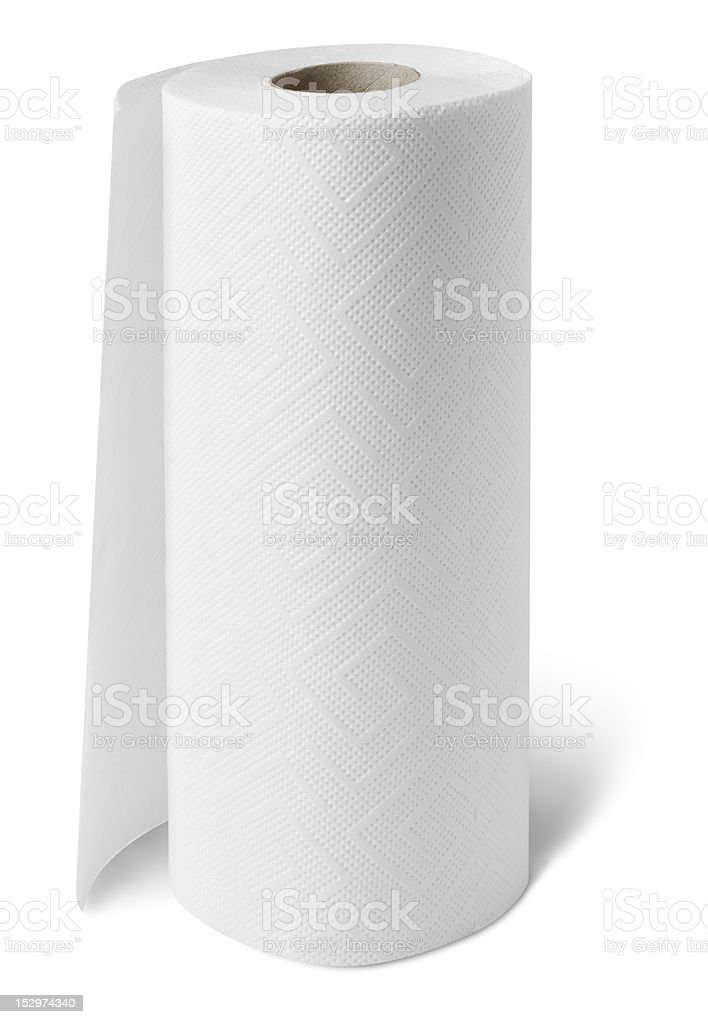 Paper towel roll royalty-free stock photo
