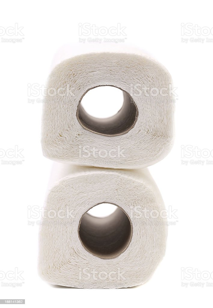 Paper towel rolls royalty-free stock photo