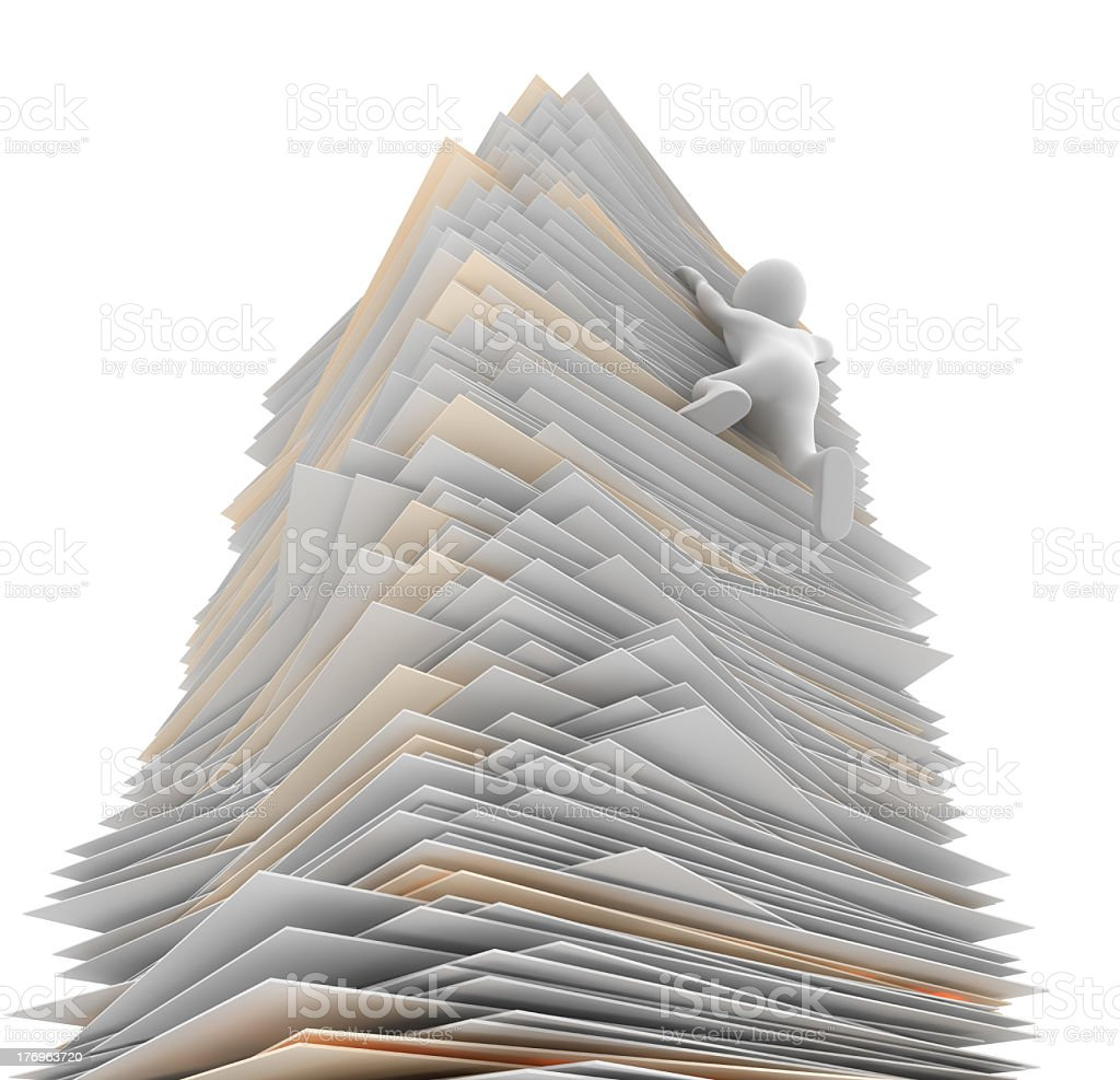 Paper Tower royalty-free stock photo