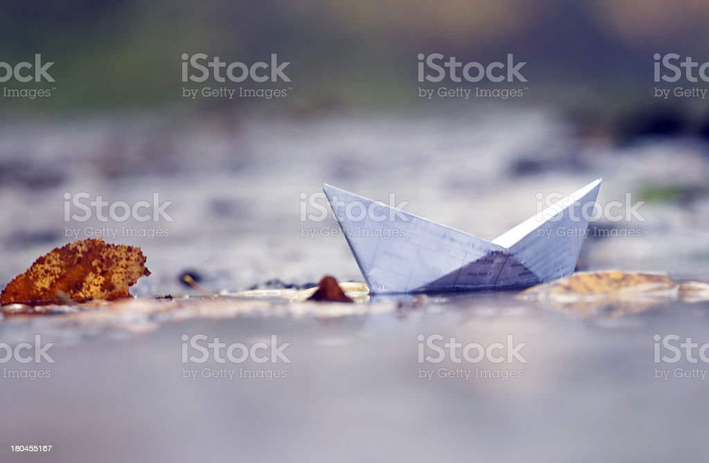 Paper toy boat royalty-free stock photo