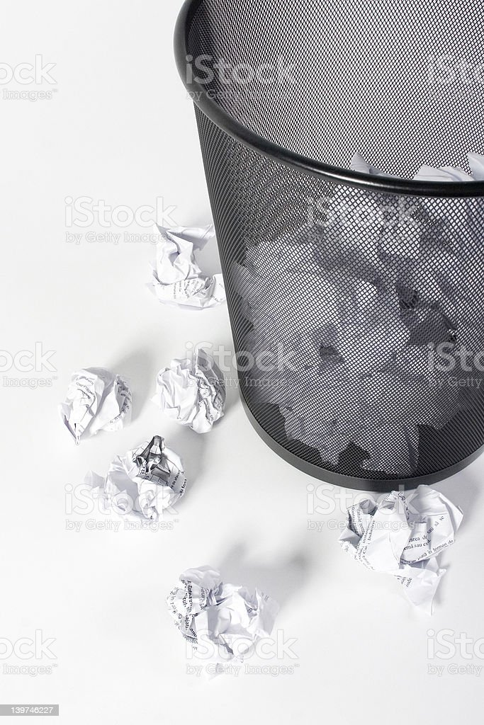 Paper trash. royalty-free stock photo
