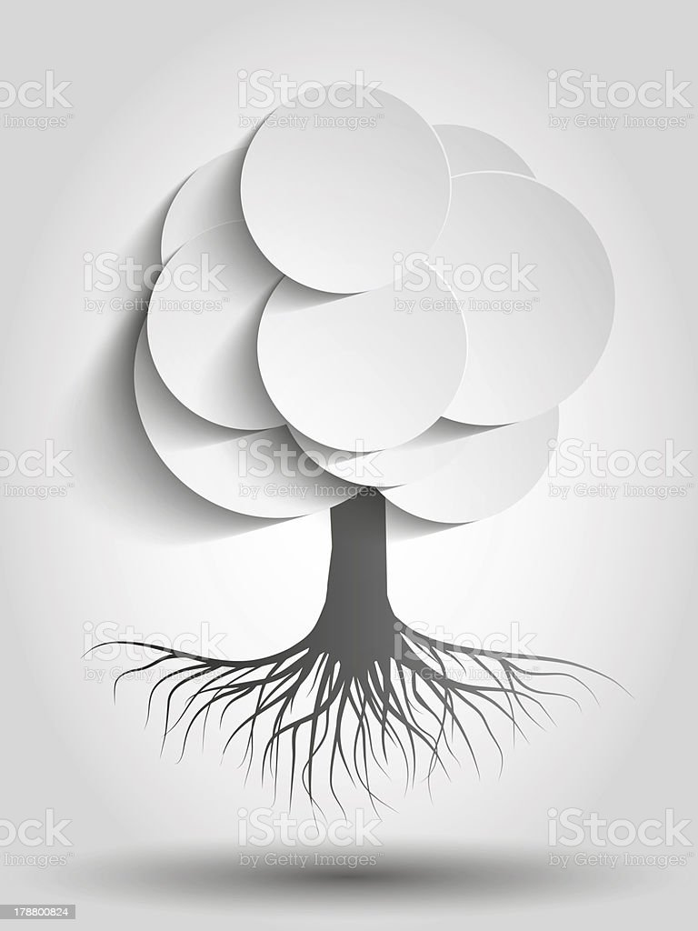 Paper Tree royalty-free stock photo