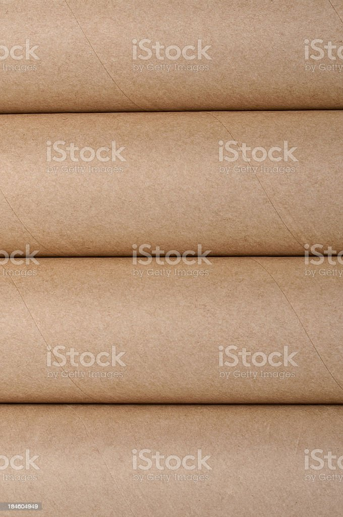 Paper Tubes Background stock photo