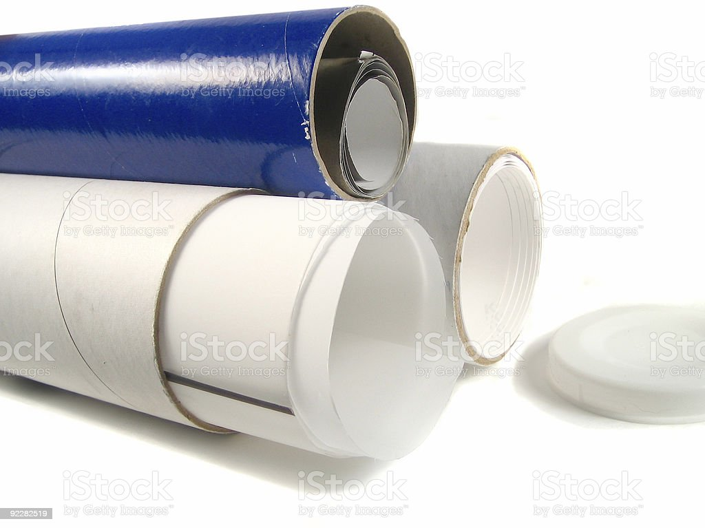paper tubes royalty-free stock photo